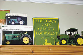 Kirk's John Deere tractor collection