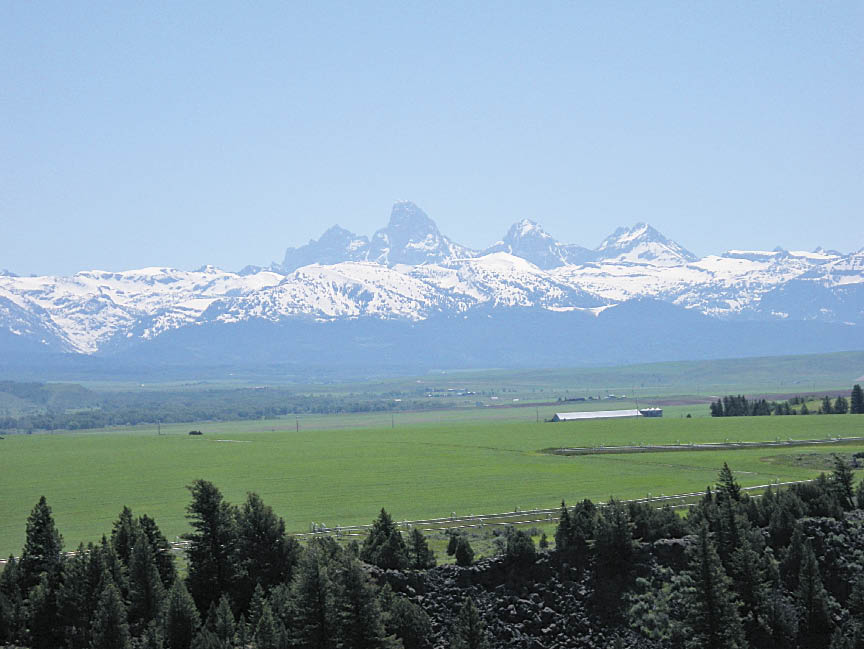 Grand Tetons, as seen from Tetonia