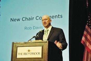 2013-2014 USPB Chair Rob Davis of Connell, Wash., addresses the board as the newest chair, succeeding Sid Staunton of Tulelake, Calif. The USPB Summer Meeting will take place at The Coeur d'Alene Resort in August.